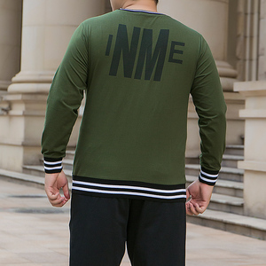 Image 2 - male oversized pocket t shirt mens military green cotton tshirts long sleeve striped T shirt korean streetwear soft pullover top