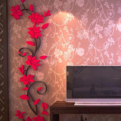 3D زينة ملصقات جدار زهرة غرفة المعيشة المنزلي ملصق جدران سهل الاستخدام يمكن إزالته صائق جدارية