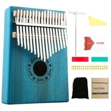 цена на 17 Keys Kalimba Mahogany Thumb Piano Musical Instruments Mbira Kalimba with Learning Book Tune Hammer