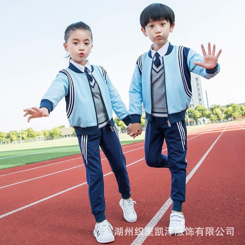 Kindergarten Suit Young STUDENT'S School Uniform Children Business Attire Pure Cotton British-Style Teacher Sports Clothing Spri