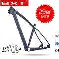 Бесплатная доставка BXT 29er MTB углеродная рама 29in рама карбоновая для горного велосипеда 142*12 или 135*9 мм велосипедная Рама 3K матовая/глянцевая ...