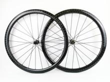 700c 38mm profundidade estrada bicicleta freio a disco rodas de carbono 25 largura sem câmara de ar cyclocross rodado de carbono com 12 k sarja acabamento brilhante