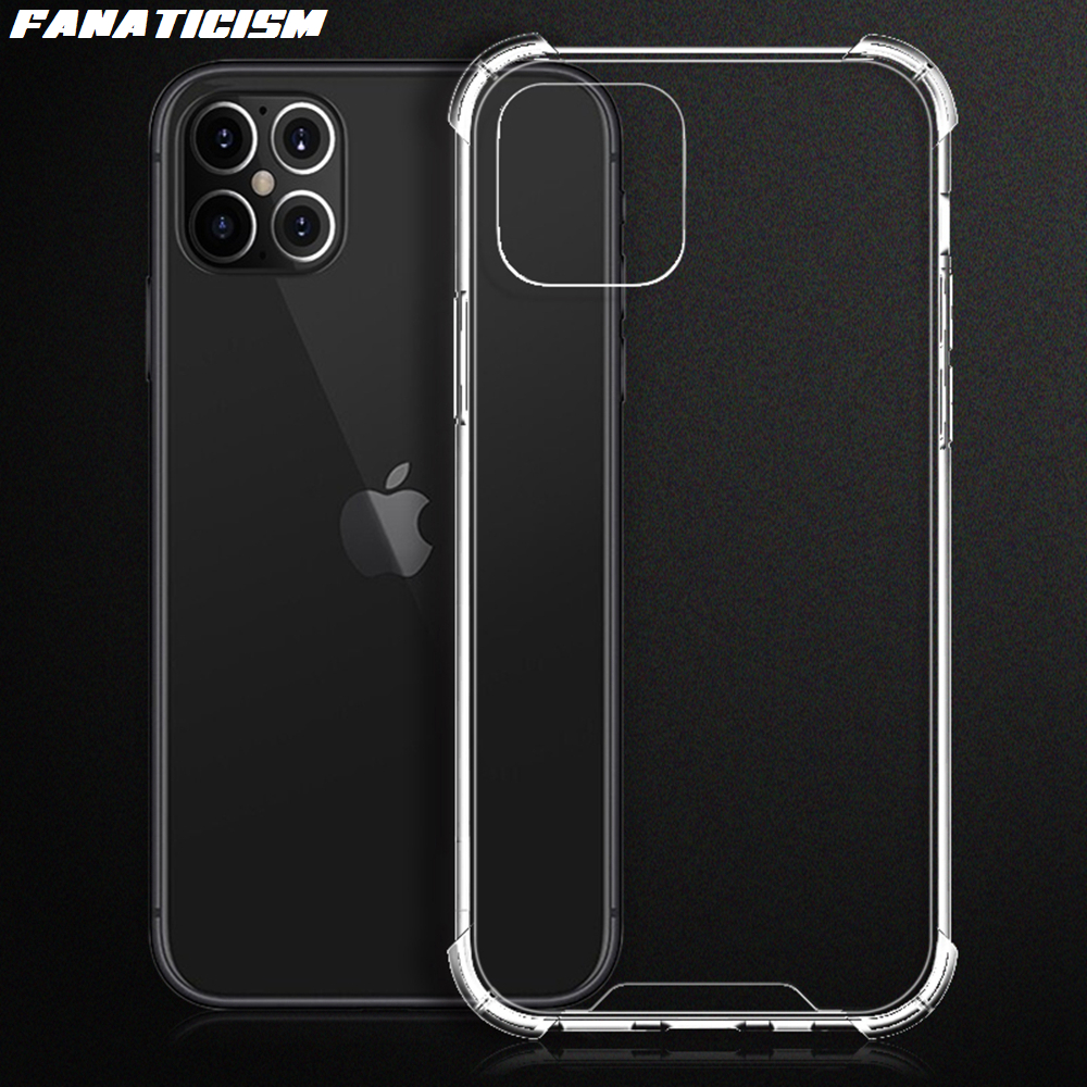 100pcs Airbag Shockproof TPU Bumper Acrylic Hybrid <font><b>Armor</b></font> Hard PC Phone Cover <font><b>For</b></font> <font><b>iPhone</b></font> 12 pro Max 12pro 12Max iphone12 <font><b>Case</b></font> image