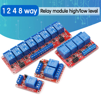 1 2 4 8 Channel 5V 12V Relay Module Board Shield with Optocoupler Support High and Low Level Trigger for Arduino - discount item  5% OFF Games & Accessories