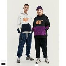 Cooo Coll Men Women Long Hoodies Hip Hop Streetwear Harajuku Stitching pocket Finger print kanye west assp sweatshirt tops