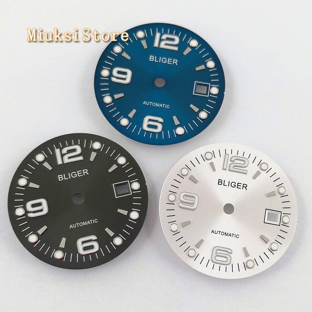 do relógio de prata Ajuste ETA 2836
