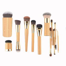 Brand new 1pc Soft Make up brushes Foundation eye lip Powder makeup brush liner blending contour Professional High quality cheap CN(Origin) Synthetic Hair T brush Different size Sets Kits Wood as picture High quality synthetic hair with bamboo bamboo brush