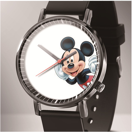 Zegarek Damski New Luxury Brand Mickey Cartoon Quartz Women Watches Reloj Mujer Black Leather Lovely Bear Kids Watches Montres