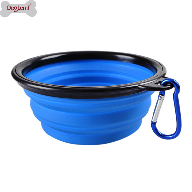 350ML Folding Silicone Dog Bowl Outfit Portable Travel Bowl For Dog Feeder Utensils Small Mudium Dog Bowls Pet Accessories