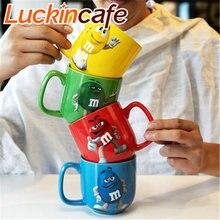 Милые m & бобы кофейные кружки чашки для чая и Кружки Мультфильм