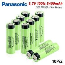 파나소닉 100% 원래 NCR18650B 3.7 v 3400 mah 18650 리튬 충전식 배터리 방전 20A 손전등 배터리