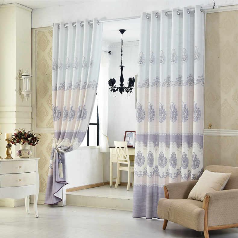 Европейские утолщенные льняные шторы для гостиной столовой спальни.