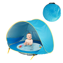 Baby Beach Shade Tent Pop Up 1-3 People UV Protection Sun Shelter Home Garden Outdoor Beach Portable Shade Accessory For Infant