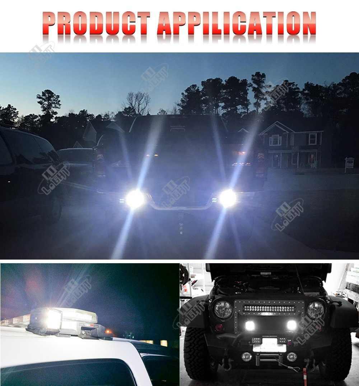 """CO светильник 2020 Новый 12D светодиодный автомобильный бар 3 """"светодиодный рабочий светильник 8000LM прожектор для внедорожников 12 В 24 в ДХО 4x4 для тракторов, грузовиков, квадроциклов, внедорожников, УАЗ"""