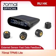 70mai-sistema de supervisión de presión de neumáticos Lite, TPMS inteligente para coche, energía Solar, aplicación de Control, sistemas de alarma de seguridad de coche, aviso de presión de neumáticos
