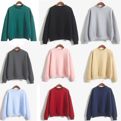 2019 New Women's Hooded V-neck Pullover Sweater Fashion Slim Sweater