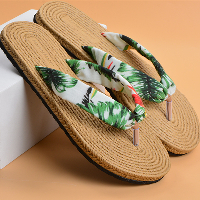 Summer Slippers Shoes Women Print Anti-slid Sandals Soft Floor Woman New Casual Indoor Flats Shoes Cute Casual Slipper Ladies