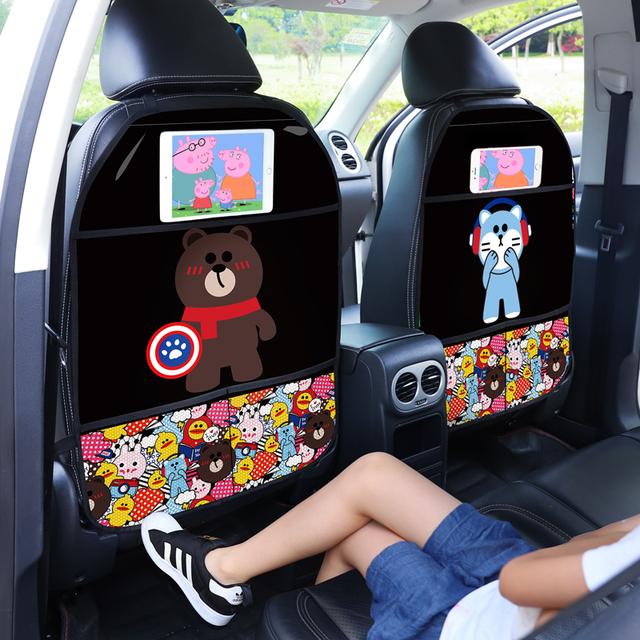 Children anti-kick mat for automob