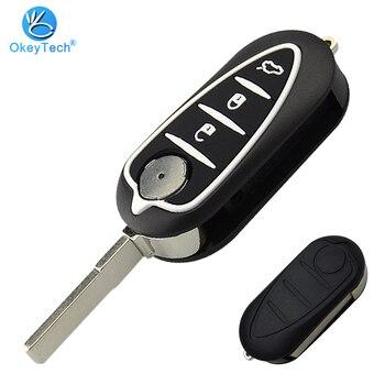 OkeyTech-funda plegable de silicona para llave, 3 botones, para Alfa Romeo 159...