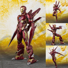 2019 NEW Hot Marvel Avengers SHFiguarts IRON MAN MK50 NANO WEAPON SET Infinity War Action Figures Model Toys Free Shipping