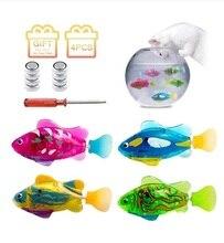 4 шт светильник Прозрачный Электрические рыбы Wimming в воде, подарок на день рождения высокого качества вспышка рыбы игрушка Раковина ванной б...