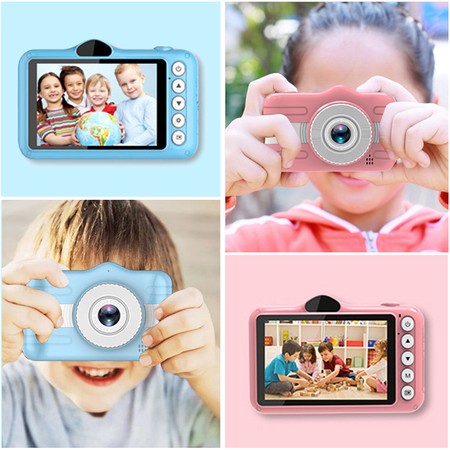 Gosear Kids Camera 1080P 800W Digital Camera Rechargeable Video Camcorder with 3.5 Inch IPS Screen for Children Birthday Gifts image