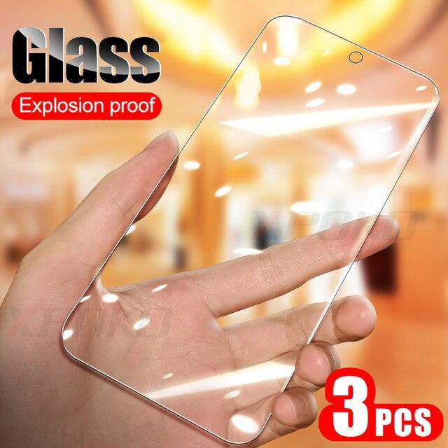 3 pièces/lot verre trempé complet pour Samsung A50 A30 A10 M30 M20 M10 Film de protection décran pour Galaxy A40 A70 A20E A80 A90 A60 Glass