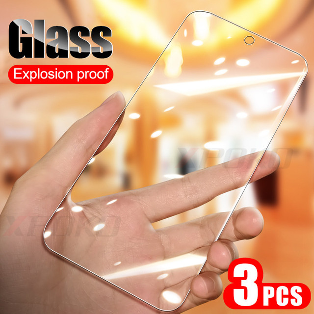 3Pcs/lot Full Tempered Glass For Samsung A50 A30 A10 M30 M20 M10 Screen Protector Film For Galaxy A40 A70 A20E A80 A90 A60 Glass