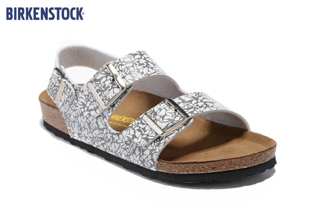 BIRKENSTOCK 808 Mayari Arizona Gizeh Street Summer Men Women  Flats Sandals Cork Slippers Unisex Sandy Beach Casual Shoes Print