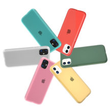 Candy Color Clear Matte Latex Silicone Case For iph