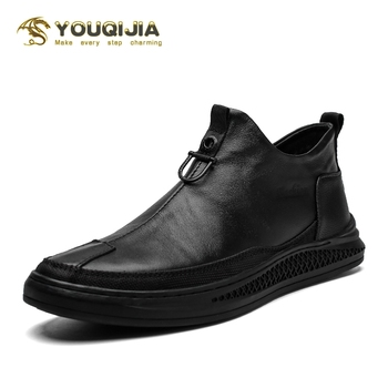 Männer Casual Schuhe Aus Echtem Leder Schuhe Luxus Lässige Mode Vintage Retro Party Formale Geschäfts Hochzeit Büro Schuhe YOUQIJIA