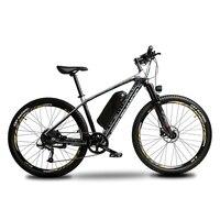 Pedal Assist Electric Mountain Bike Carbon Fiber Bike 500W 48V 16Ah Li ion Battery 9 Speeds Hydraulic Disc Brakes