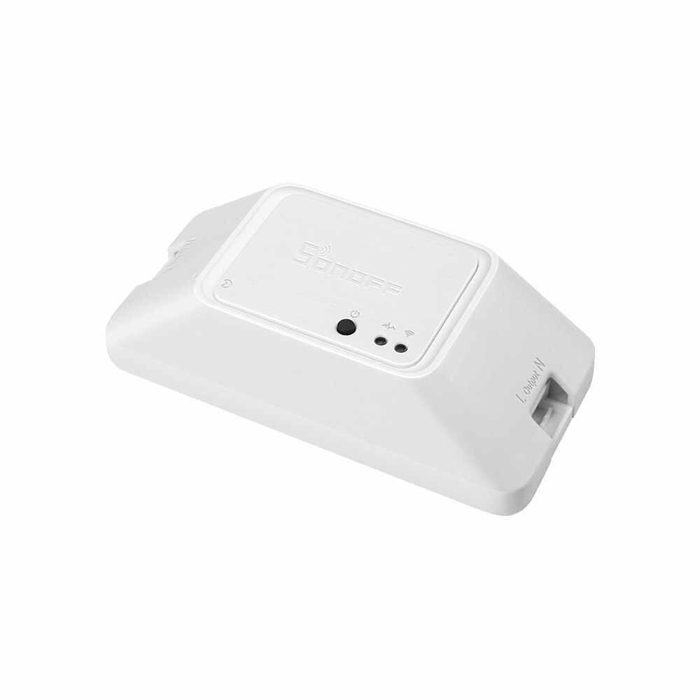 Sonoff RF R3 RF de 433Mhz Wifi interruptor de casa inteligente de Control remoto inalámbrico de bricolaje interruptor a través de eWeLink APP funciona con alexa de Google