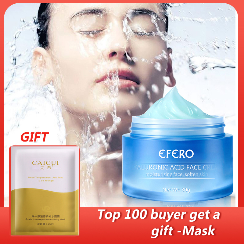 30G EFERO Hyaluronic Acid Shrink Pores Face Serum Moisturizing Whitening Essence Face Cream Anti-Aging Dry Skin Care Day Cream image