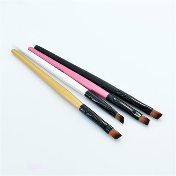 1/3PCS Bevel Eyebrow Brush Soft Portable Wooden Handle Eye Shadow Makeup Foundation Concealer Brushes for Beauty Cosmetic Tool