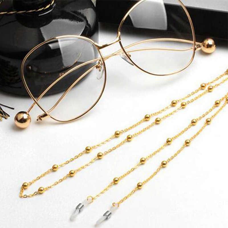 Porte-cordon de lunettes en or 1PC chaînes de lunettes de mode argent femmes perlées longues lunettes de soleil lecture Chic chaîne de lunettes