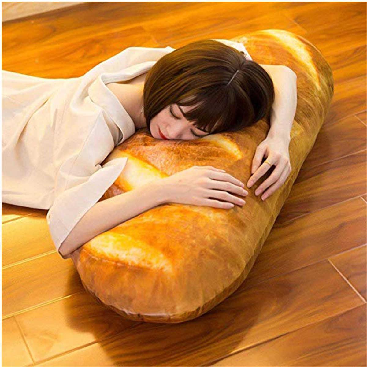 Juguetes De aperitivo 3D simulados divertido cojín de cumpleaños suave relleno decoración para el hogar respaldo regalo niña almohada de felpa para niños forma de pan