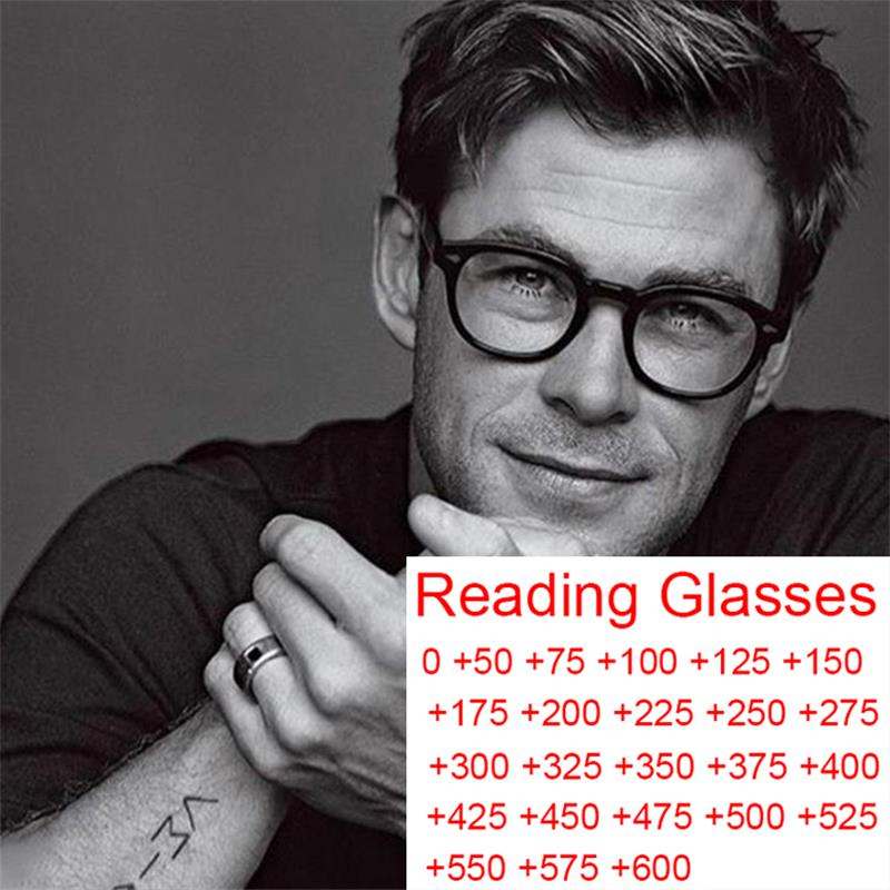 Gafas de lectura de presbicia redondas clásicas para hombre, protección antirayos azules para ordenador, graduadas, de 0 a + 5