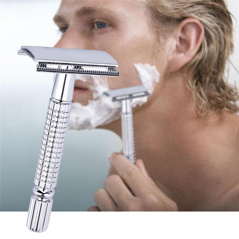 Safety Double Edge Razor For Men Barber Straight Razor Shaving Knives Men's Shaving Face Razor Blades Shaving Machine Gifts