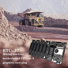 BTC-37 górnik niskie zużycie energii wysokowydajny zestaw płyt głównych CPU 8 gniazdo karty graficznej pamięć DDR3 zintegrowany interfejs VGA tanie tanio CN (pochodzenie) Riser na PCI-E NONE