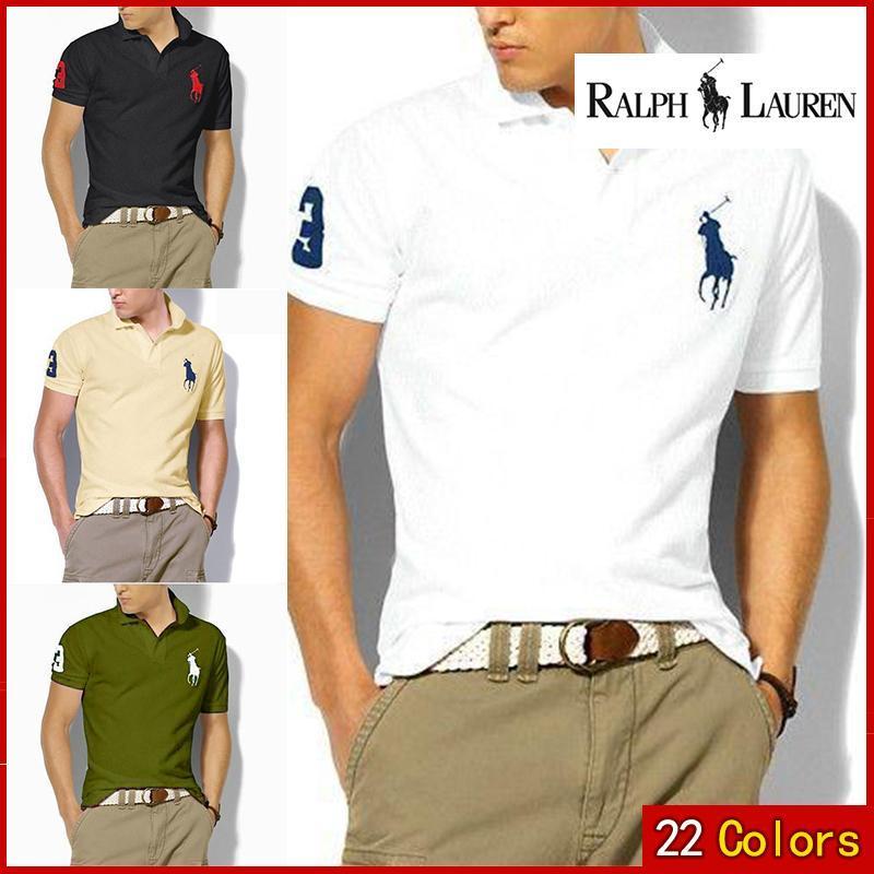 Man Polo Shirt Brand Mens Casual Deer Embroidery  Polo Shirt Men Short Sleeve High Quantity Polo Men 25512