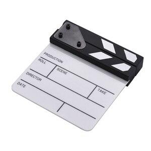 Acrylic Movie Director Dry Erase Handmade Cut Prop TV With Stick Studio Slate Film Clap Board Action Scene High Performance
