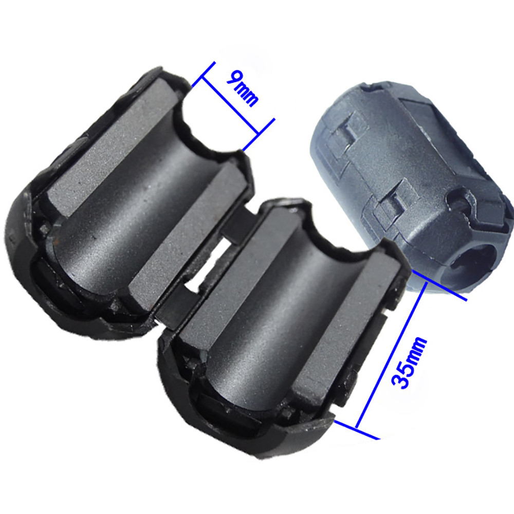 10Pcs Clip On Clamp RFI EMI Noise Filters Ferrite Core For 5mm-13mm  Cable AU