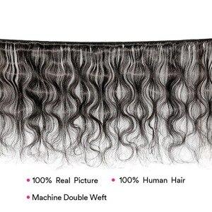 Image 5 - Body Wave 40 Inch Bundles With Closure Malaysian Hair MS Lula Natural Remy 100% Human Hair Bundles 4x4 Closure With 3 Bundles