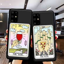 Aesthetic Art pizza coffee phone case for Samsung S11 E note 10 S10 E lite S9 S8 S10 Plus A30 A50 A70 S7 S6 EDGE Soft TPU Case karl lagerfeld for samsung galaxy s6 s7 edge s8 s9 s10 plus lite note 8 9 10 a30 a40 a50 a60 a70 m10 m20 phone case cover etui