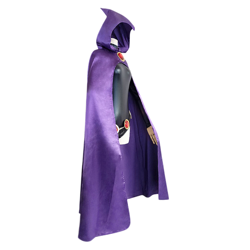 Hot Anime Teen Titans Raven Cosplay Costume Female Superhero Outfits Girl Spandex Comic Suit Halloween Carnival Uniforms