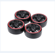 цена на 1/10 RC car drift tire double-layer drift tire hub Traxxas HSP Tamiya HPI universal