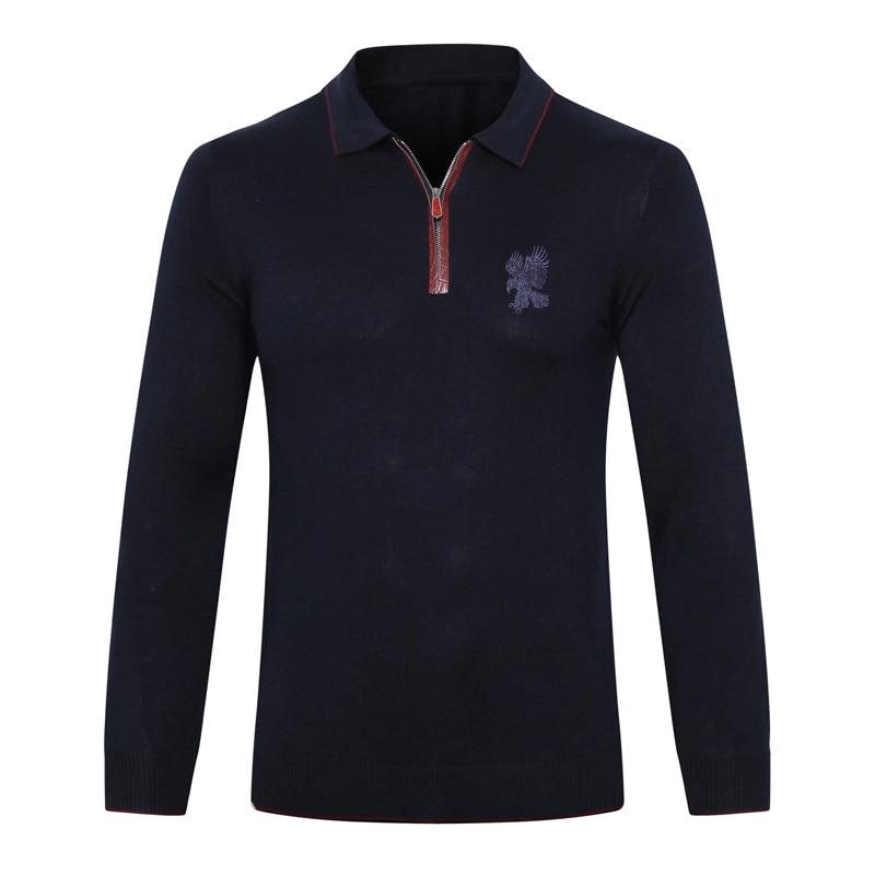 Billionaire Sweater Snake Skin Wool Men's 2019 New Casual Zipper Embroidery High Quality Gentleman Big M-5XL Free Shipping