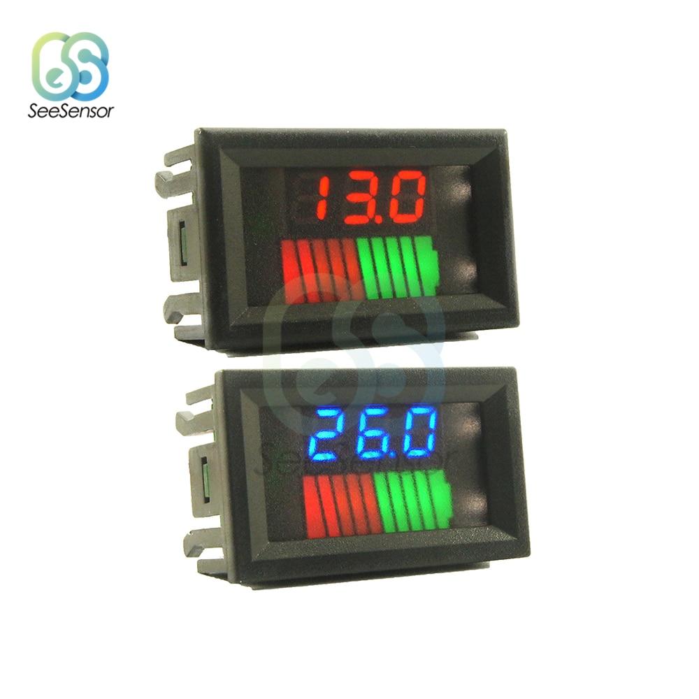 12 В 24 в автомобильный индикатор уровня заряда свинцово-кислотной батареи тестер батареи двойной дисплей измеритель емкости аккумулятора в...