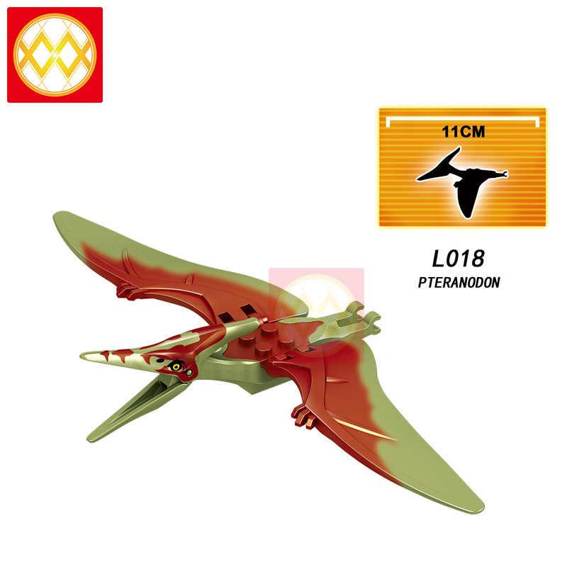 Trasporto Libero L022 Charlie Velociraptor Pteranodon Blu Echo Triceratops Dinosauri Del Mondo di Blocchi di Costruzione Per Bambini Giocattoli Juguetes